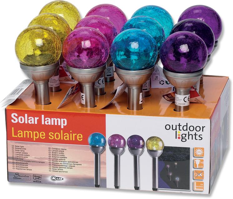 led solar gartenlampe kugel bunt fachgrosshandel haack. Black Bedroom Furniture Sets. Home Design Ideas