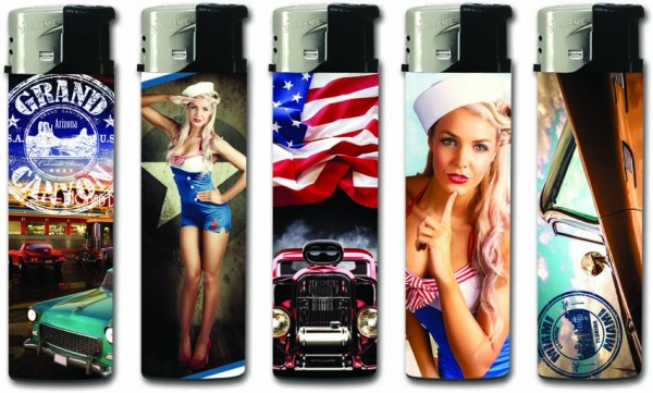 B!FLAME Basic Design-Feuerzeug American Vintage