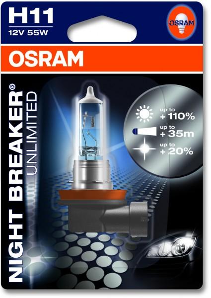 Osram PKW Night Breaker H11, 12V Einzelblister