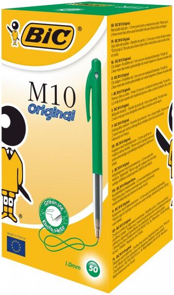 BIC M10 Druckkopfkugelschreiber Grün