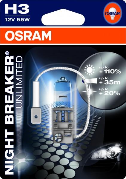 Osram PKW Night Breaker H3, 12V Einzelblister