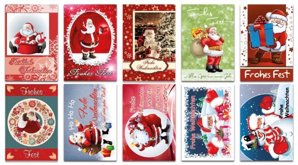 QlovesD Weihnachtskarte Weihnachtsmann
