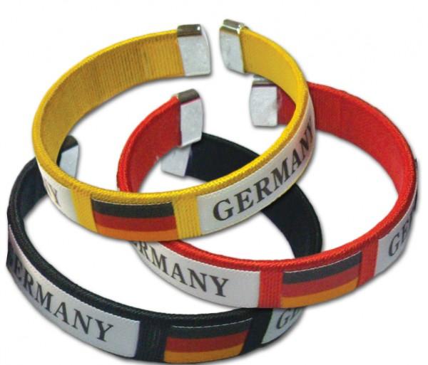 Deutschland Fan-Armband, 3er Set