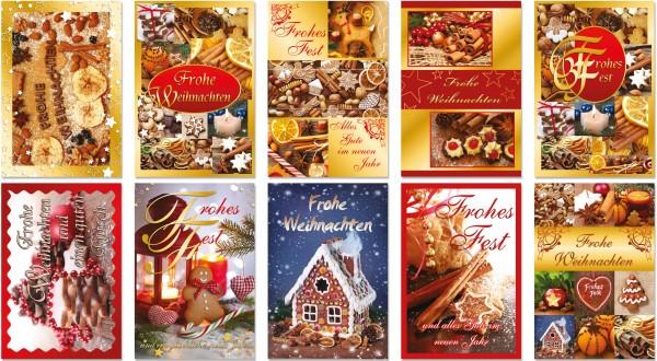 QlovesD Weihnachtskarte Gebäck