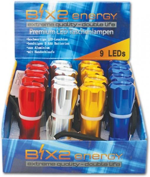 B!X2energy 9er Premium LED-Taschenlampe