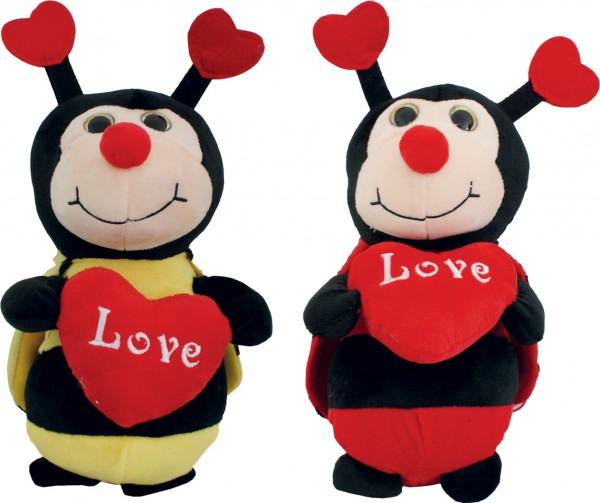 Biene & Marienkäfer mit Herz