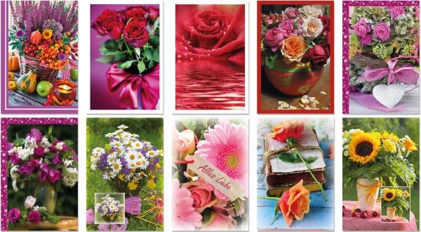 QlovesD Blankokarte Blumen #1