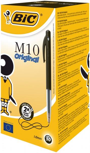 BIC M10 Druckkopfkugelschreiber Schwarz
