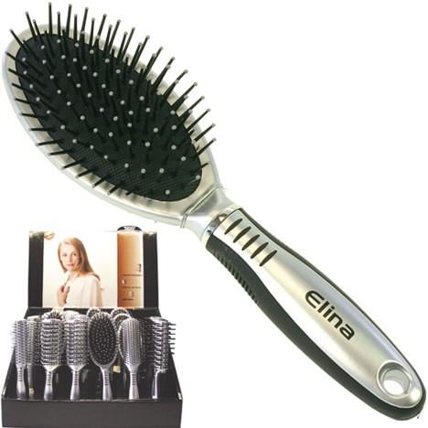 Haarbürste im Display