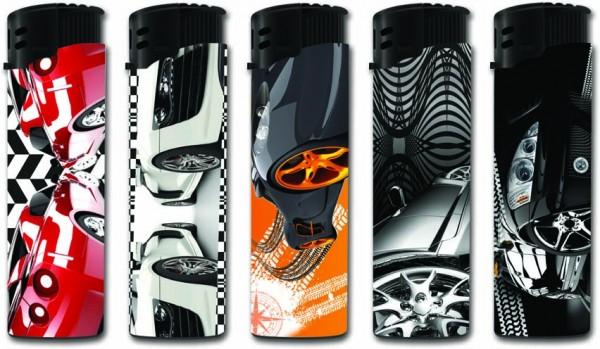 B!FLAME Premium Feuerzeug Fast Cars