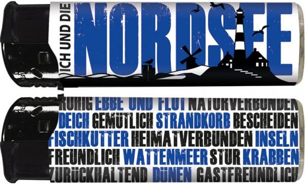 """B!FLAME Premium+ Motiv-Feuerzeug """"Ich und... Nordsee"""""""