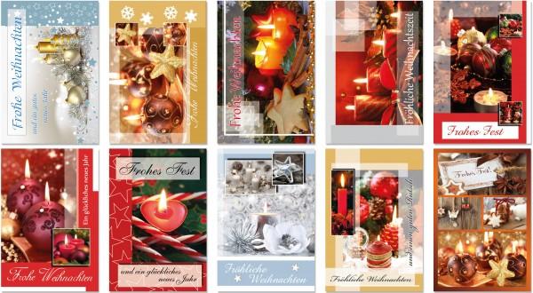 QlovesD Weihnachtskarte Kerzen