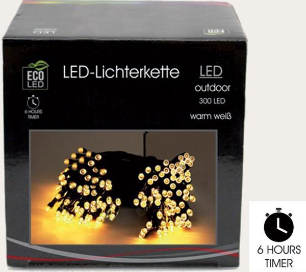 LED-Lichterkette 300 Birnen mit Timer