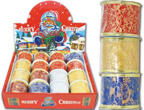 Geschenkband Weihnachten 6 cm