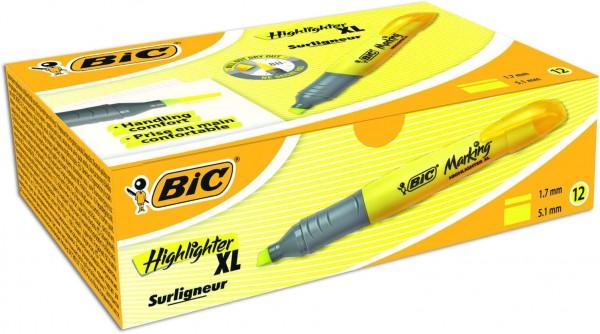 BIC XL Textmarker Gelb