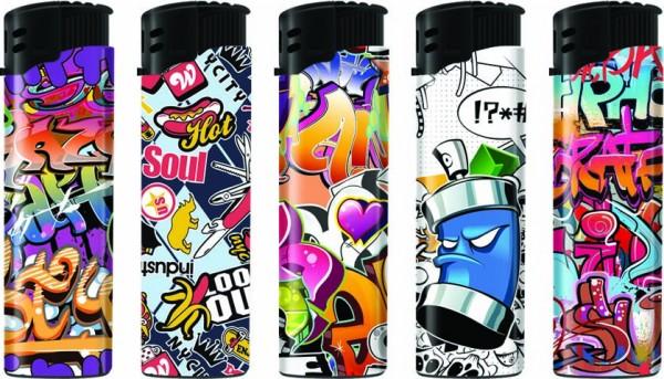 B!FLAME Premium Feuerzeug Laser Graffiti