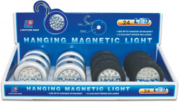 24er LED-Lampe mit Magnet und Haken