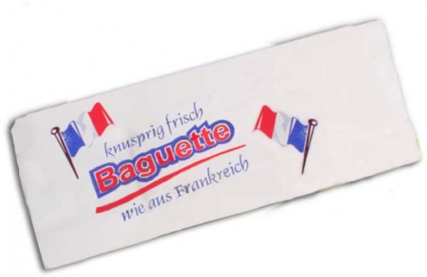 Baguettebeutel bedruckt, 12x5x58cm