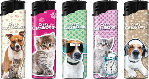 B!FLAME Sturmfeuerzeug Cats & Dogs