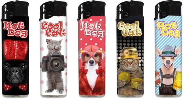 """B!FLAME Lizenz-Feuerzeug """"Cool Cats & Hot Dogs 2"""""""