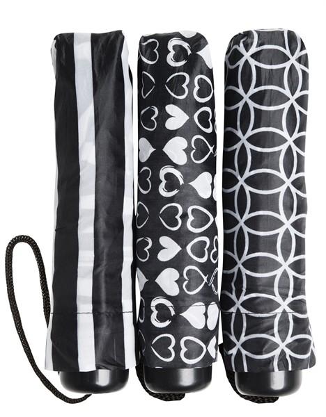 Taschenschirm schwarz/weiß