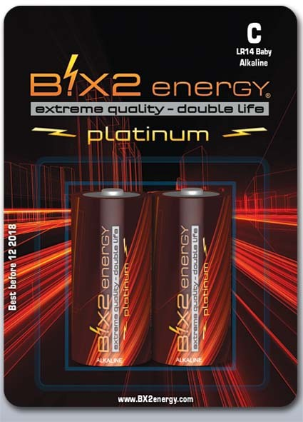 B!X2energy Alkaline R14, C, Baby