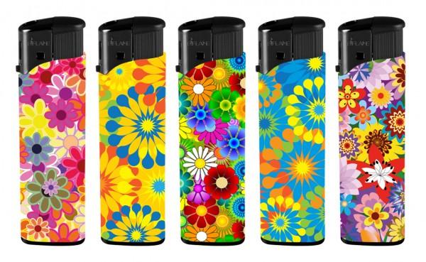 B!FLAME Basic Design-Feuerzeug Blüten