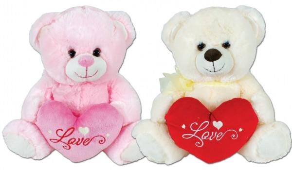 Teddy mit Herz 30 cm