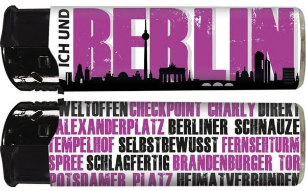 """B!FLAME Premium+ Motiv-Feuerzeug """"Ich und... Berlin"""""""