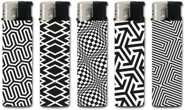 B!FLAME Basic Design-Feuerzeug Black & White
