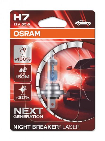 Osram PKW Night Breaker LASER H7, 12V Einzelblister