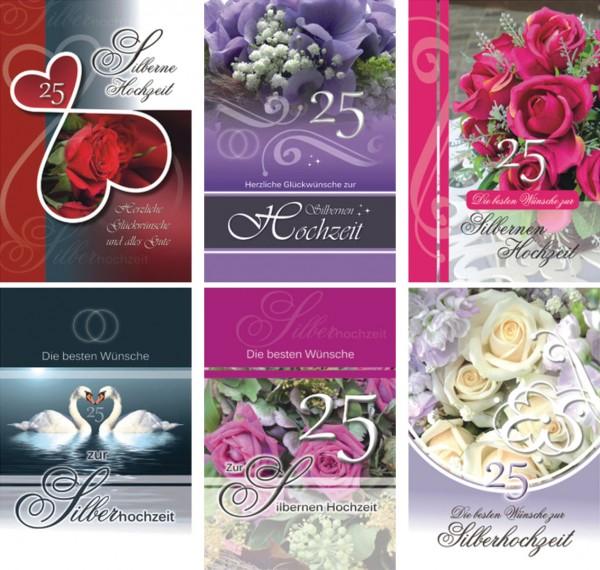 Grußkarte Silberne Hochzeit