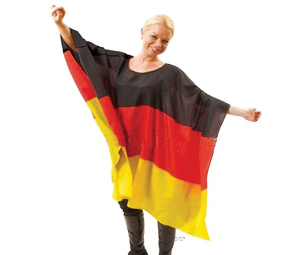 Deutschland Flaggen-Poncho