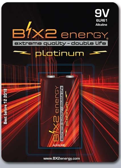 B!X2energy Alkaline 9 Volt