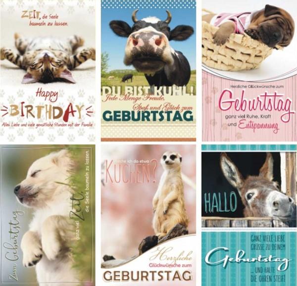 Geburtstagskarte Tierische Glückwünsche
