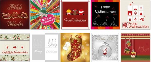 QlovesD Weihnachtskarte Modern