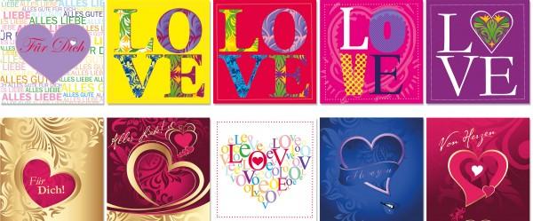 QlovesD Geburtstagskarte Herzen