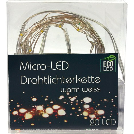 LED Lichterkette 20 Birnen 2m