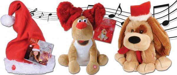 Singende und Tanzende Hunde und Mütze