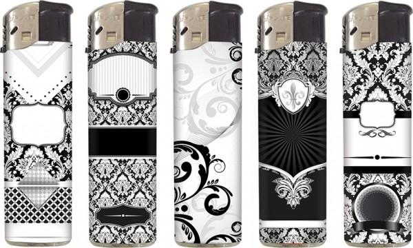 B!FLAME Basic Design-Feuerzeug Black & White #2