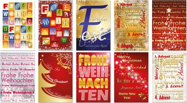 QlovesD Weihnachtskarte Schriftarten