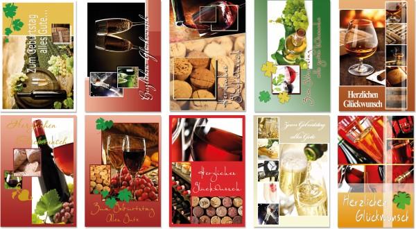 QlovesD Geburtstagskarte Weinmotive