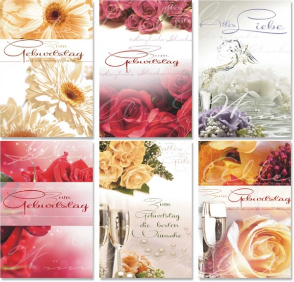 Grußkarte Geburtstag Blumen