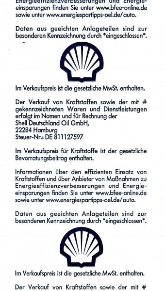 Thermo-Bonrollen Tankstellen Shell