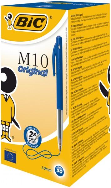 BIC M10 Druckkopfkugelschreiber Blau