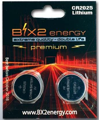 B!X2energy Lithium CR2025
