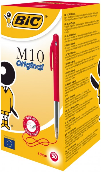 BIC M10 Druckkopfkugelschreiber Rot