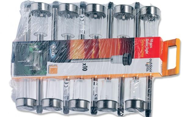 LED Solar-Gartenlampe 10er-Set