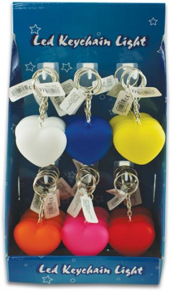 Schlüsselanhänger mit LED Herz