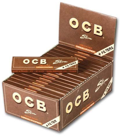 OCB Unbleached Slim+Tips